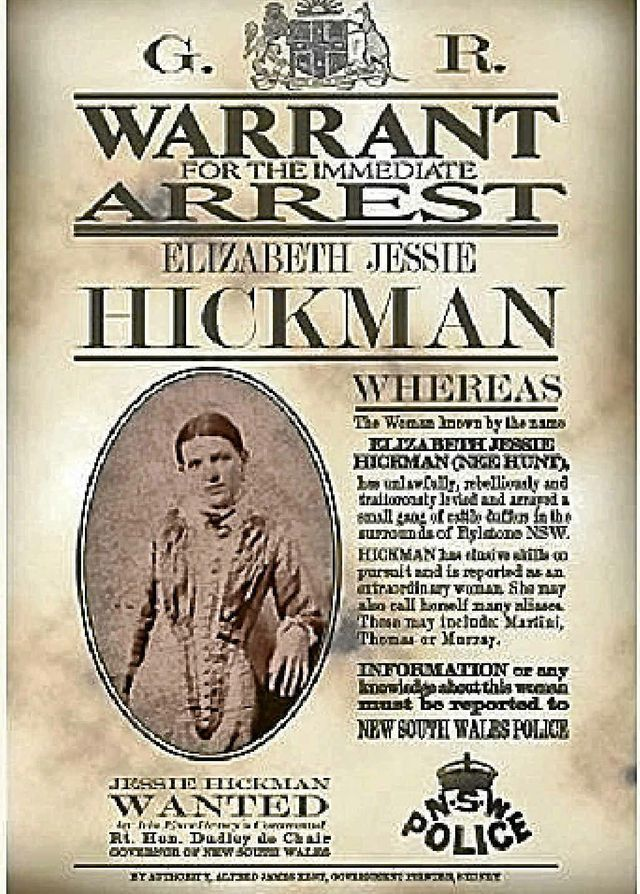 A wanted poster for Jessie Hickman c. 1920