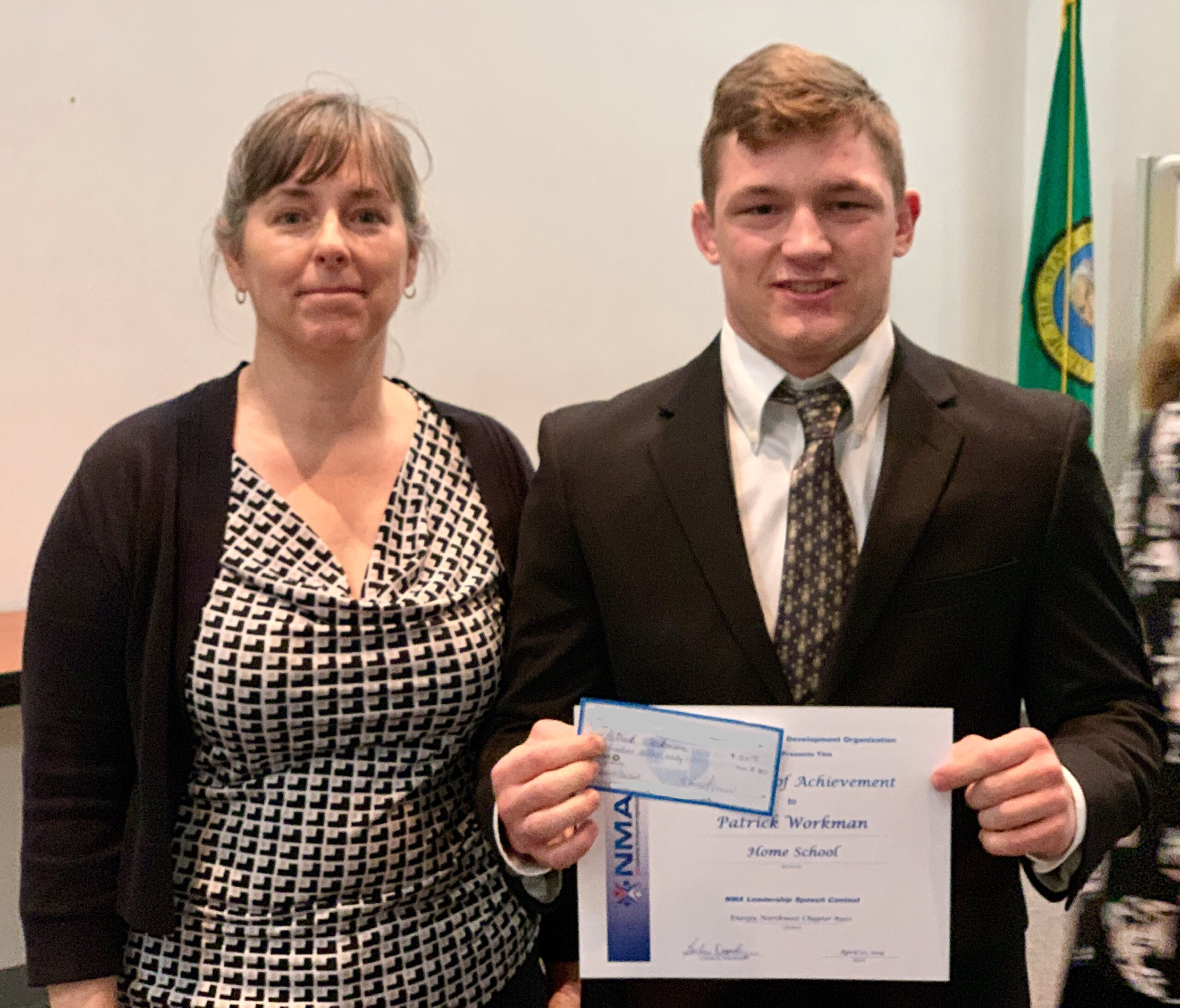 COuncil Speech Contest winner Patrick Workman - Patrick will go on to the NMA Conference in Portland, Oregon this October where he will compete for a $4,000 top prize.The MCLDA and Energy Northwest NMA Chapters will help Patrick in his pursuit of a win by covering his travel expenses while he participates in the national conference.Great job Patrick!