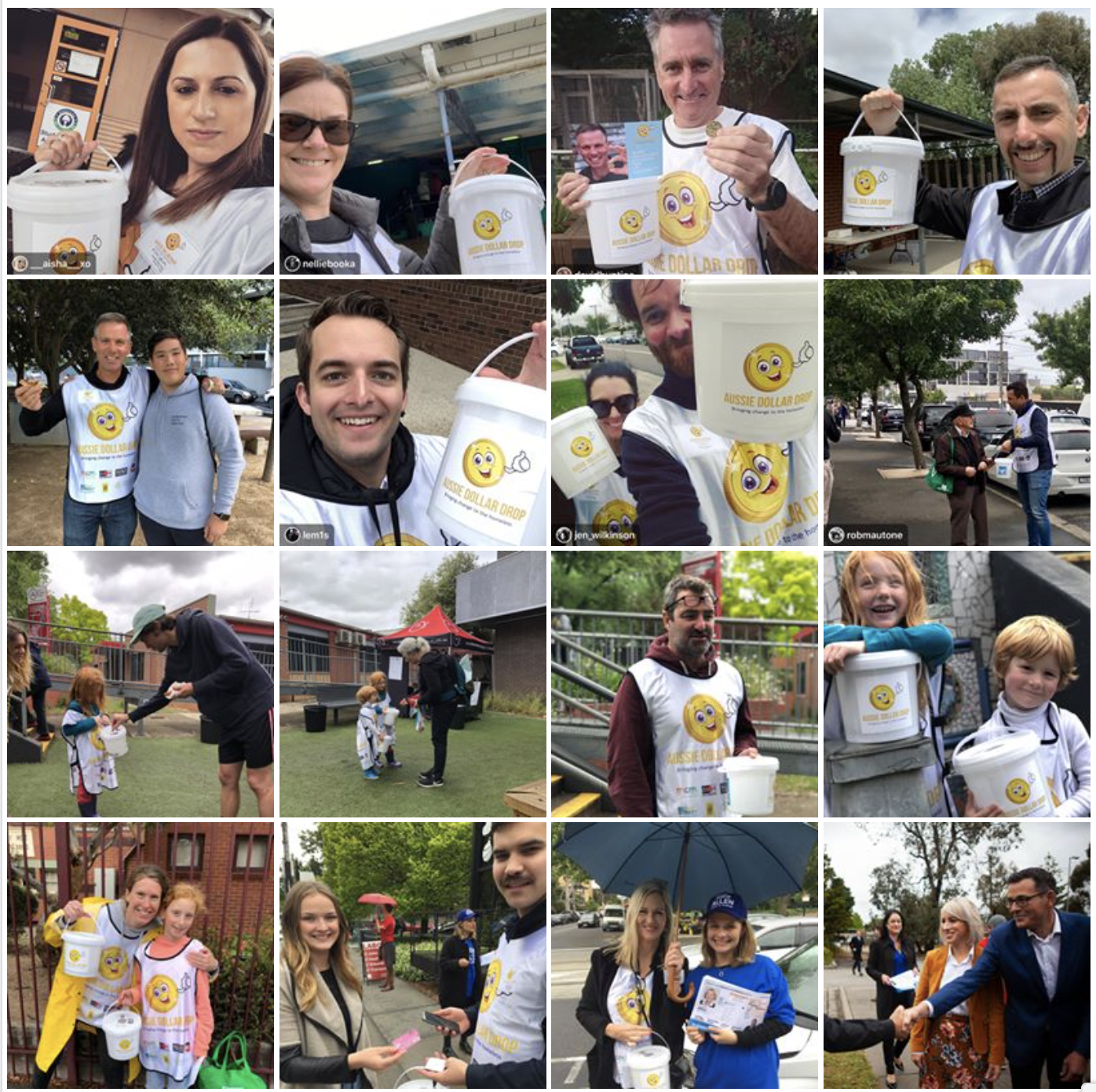 Our incredible Aussie Dollar Drop volunteers, out and about on Election Day.