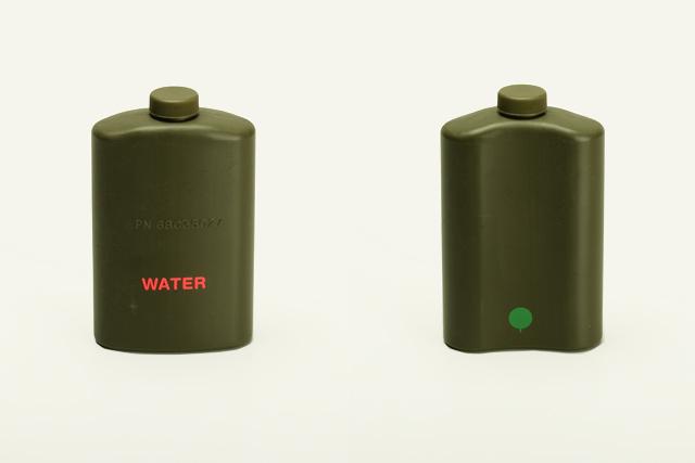 W A T E R / Elizabeth Azen, 2005.  Water storage. Plastic, laser cut vinyl.