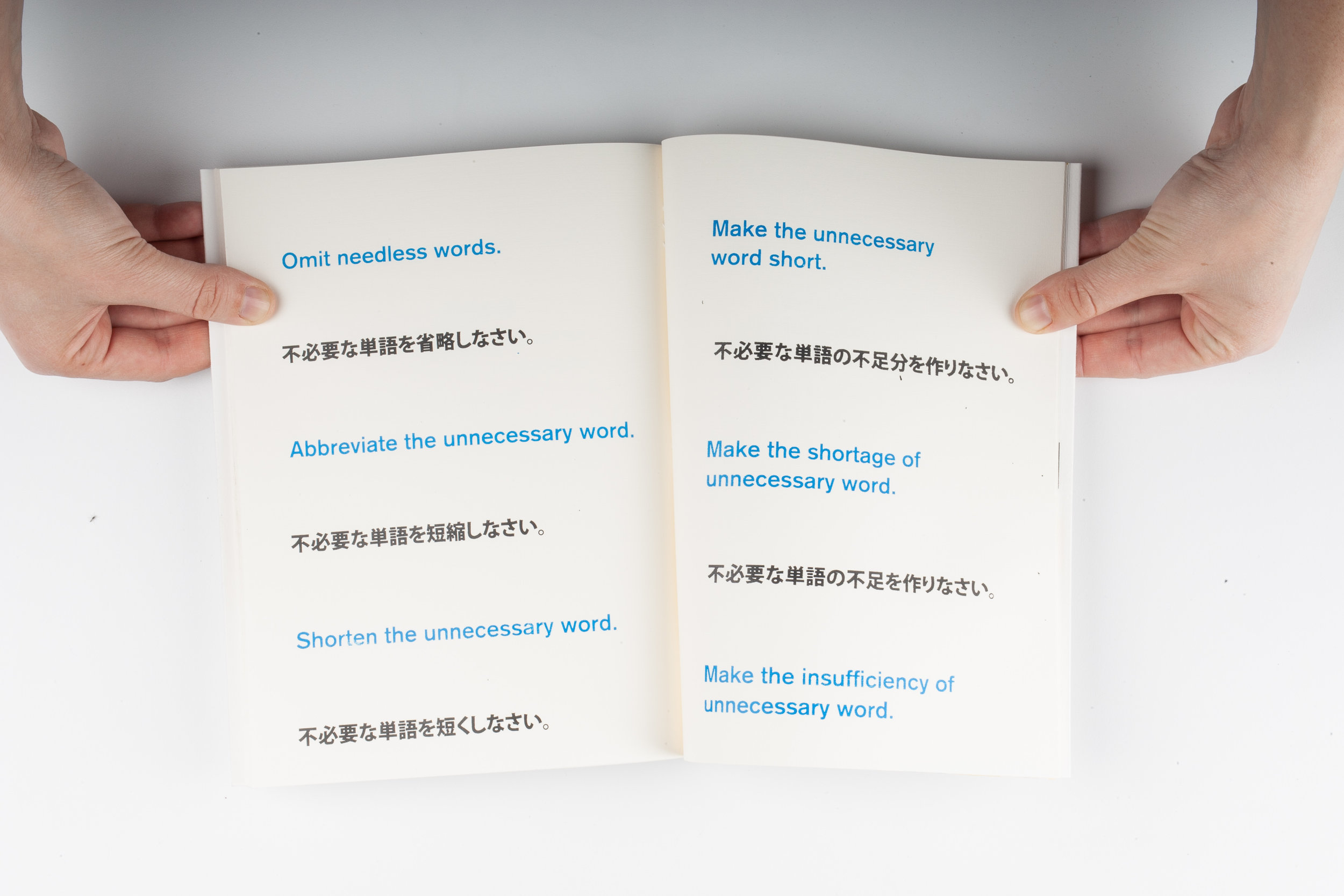 English as a First, Third & Fifth Language, Elizabeth Azen, artist book, graphic design, typography, screen printing