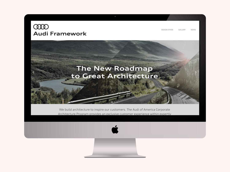 Audi Framework Website, Branding