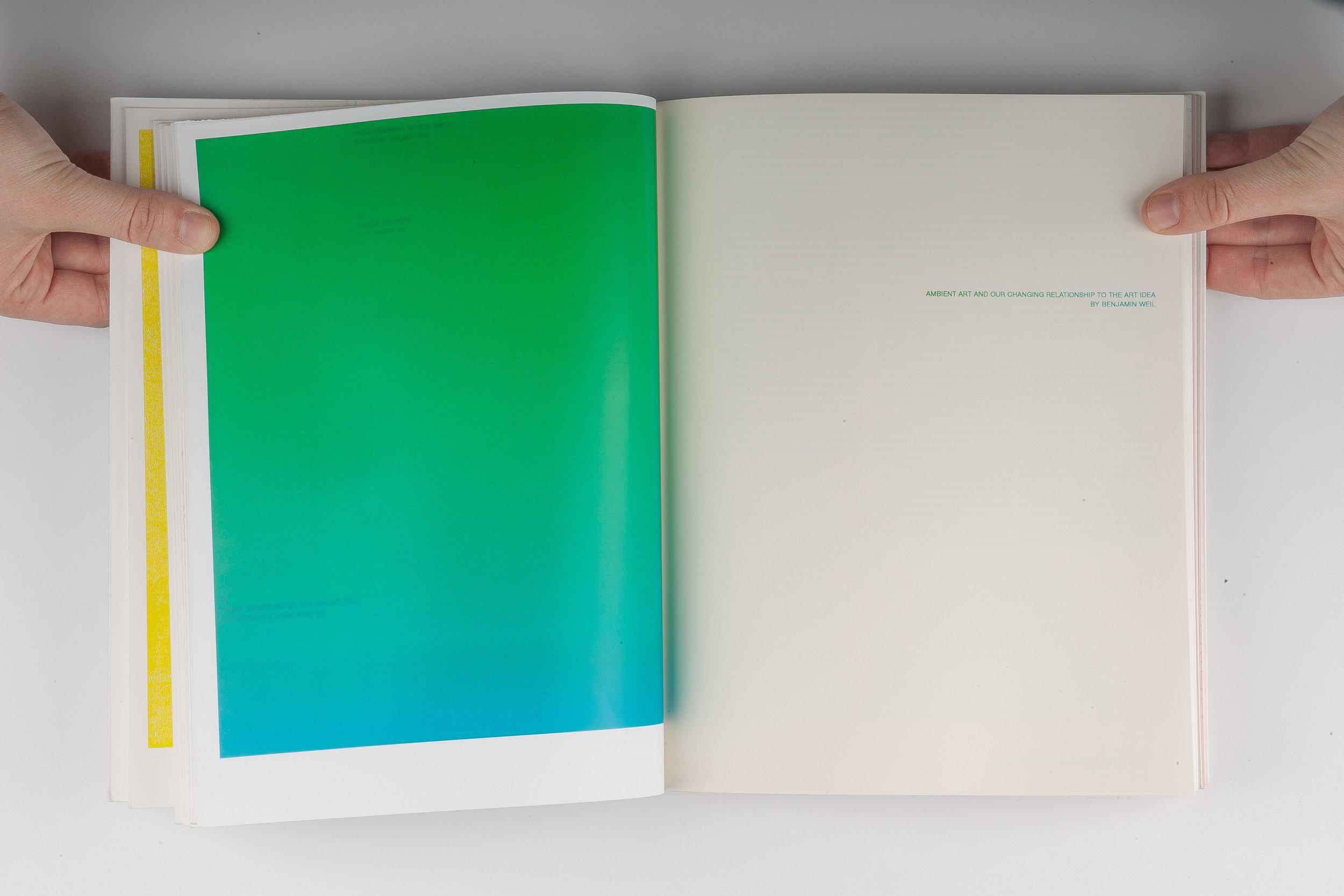 Sound Field, Elizabeth Azen, artist book, book design, graphic design, typography, grid, screen printing, small press, ambient music, Brian Eno, Jean-Michel Jarre