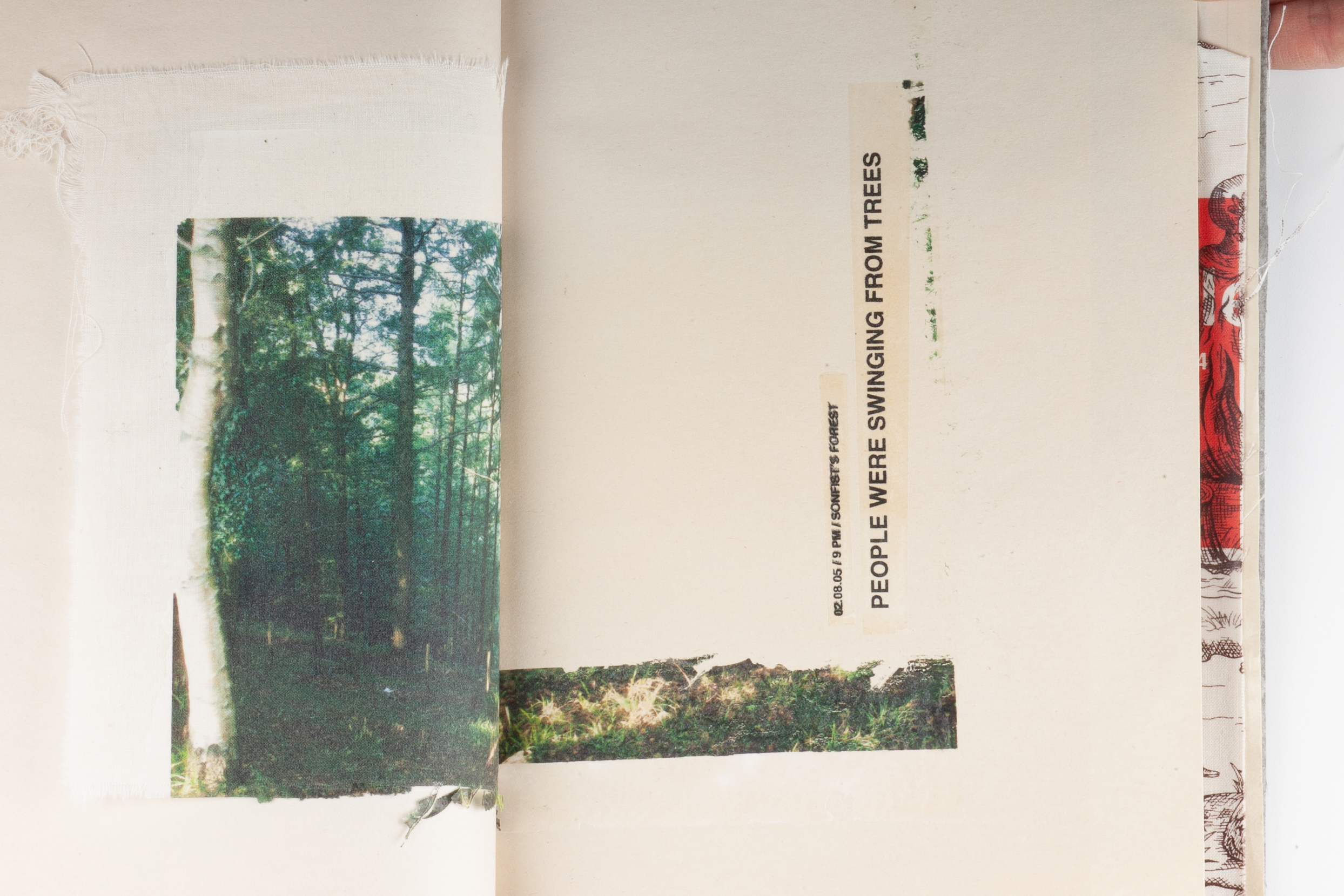 The Hunt / Book, Edition of 1. Transfer, digital printing; paper, fabric, fabric paper.  2005