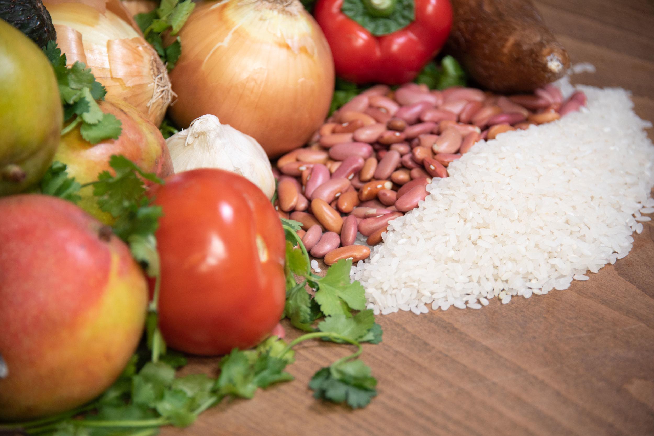 Various ingredients used in Puerto Rican Cuisine