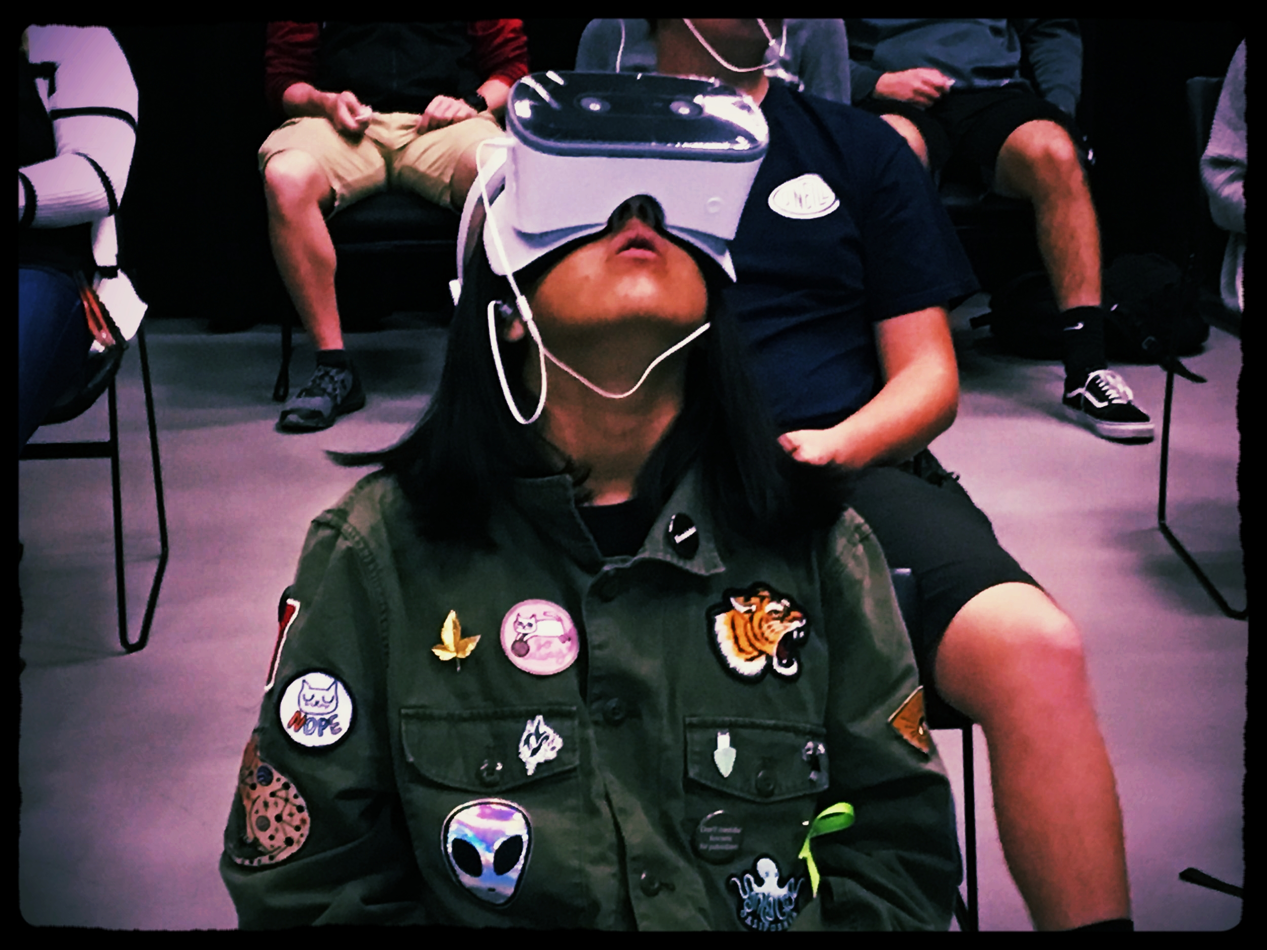 VR Is a game changer - Virtual reality allows us to design our courses in ways never before possible. Hold an atom in your hand and look inside with Sama VR.