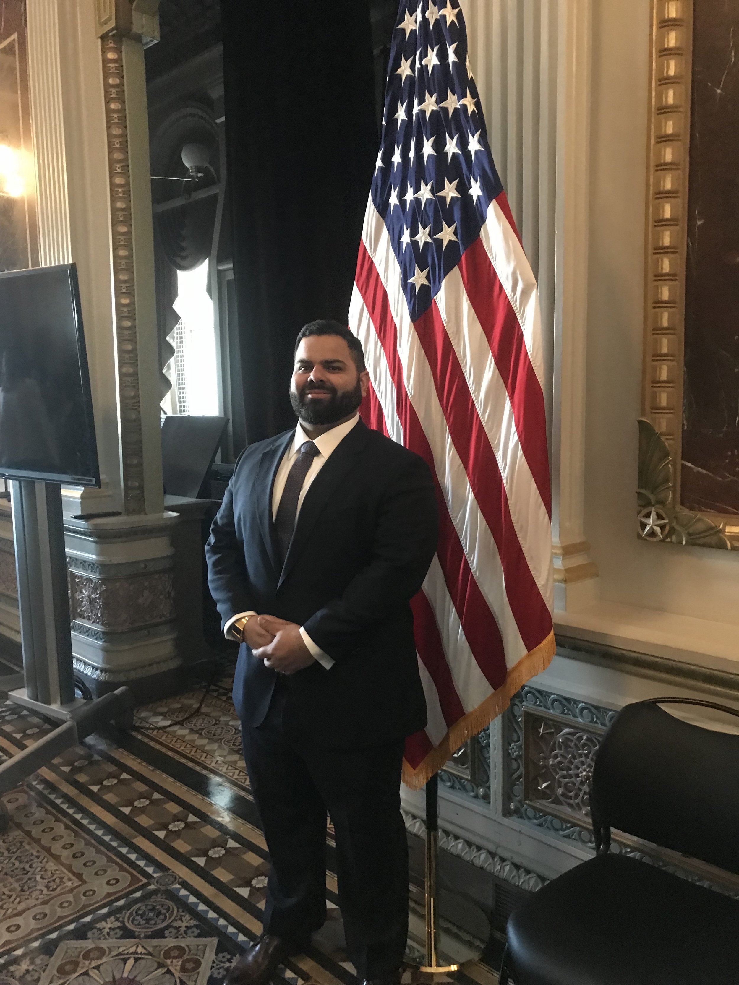 Dr. Nelson Colón Vargas during the initiation ceremony as Presidential Innovation Fellow at The White House Campus.