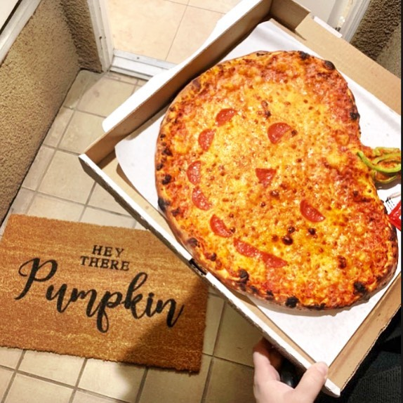 Hey there pumpkin! Make sure to order your Halloween themed pizzas in time for your Halloween parties! 🍕🎃 #halloween #foodie #studiocity #instafood #pizza