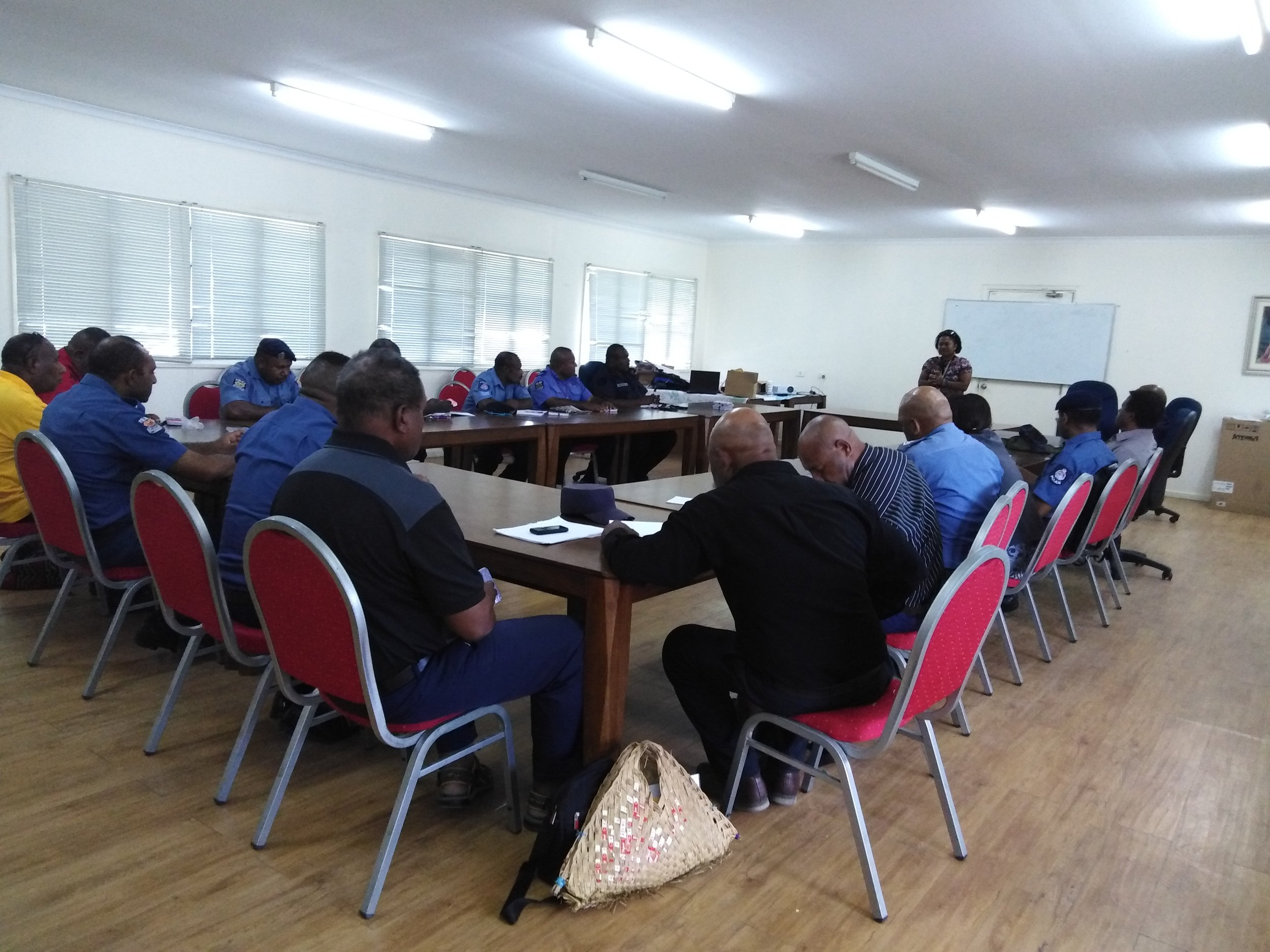 Police training supported by Bel isi PNG.