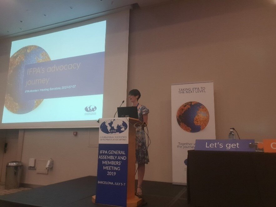 Elisa Martini, IFPA's Program Officer for Advocacy and Policy, shares IFPA's advocacy journey. The IFPA General Assembly took place from 5- 7 July.