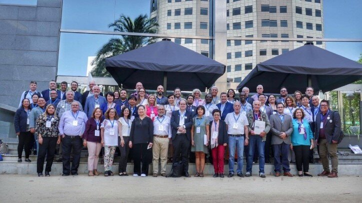 IFPA members after the IFPA General Assembly, where they gathered in Barcelona with the right mindset: #letsgetconnected for the good of people living with  #psoriasis  and #psoriaticarthritis around the world!