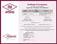 FM Approvals Certificate of Compliance