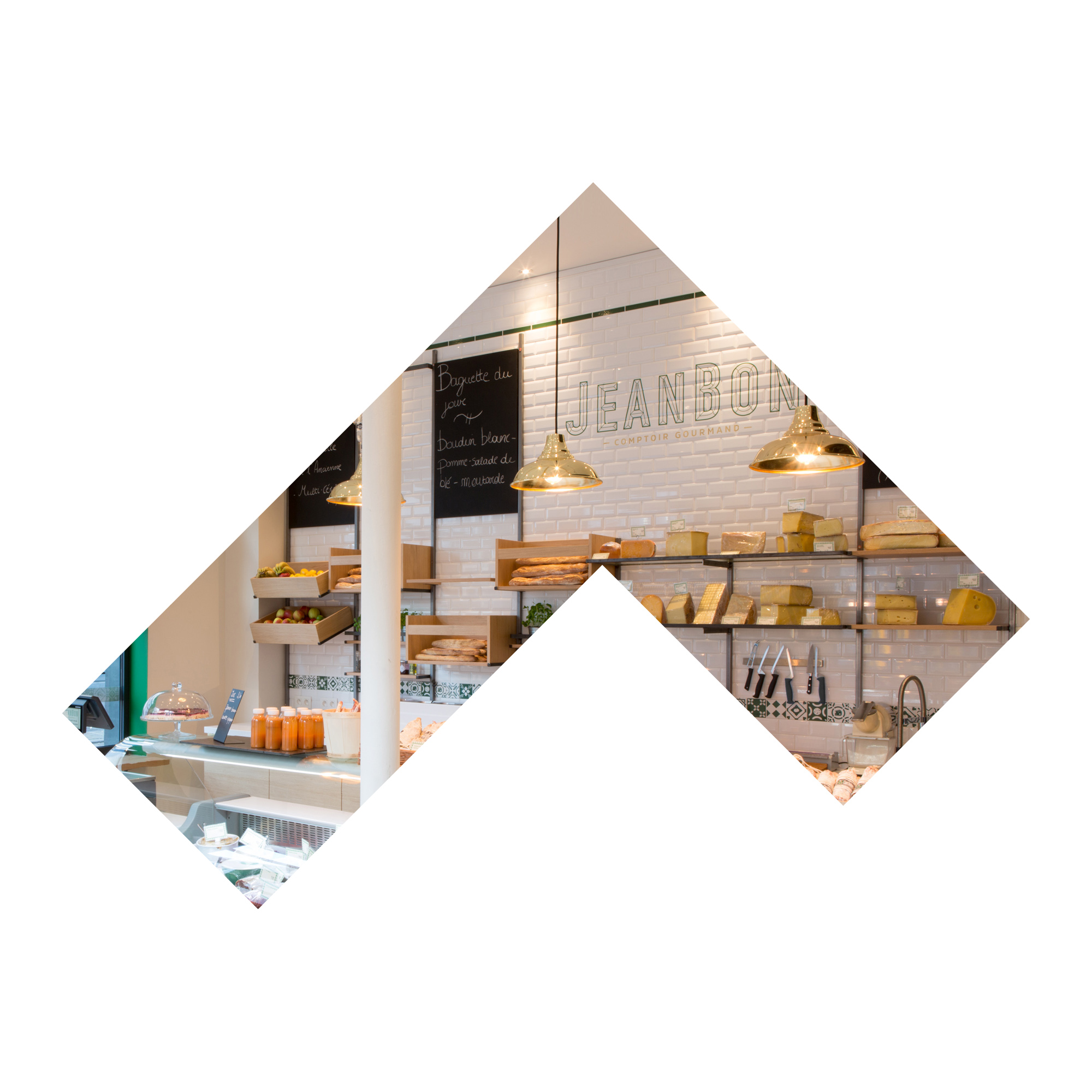 JEANBON - Interior design for Jeanbon 'Comptoir Gourmand'Defining a warm, elegantand recognisable material palletCo-creation with wewantmore.studio