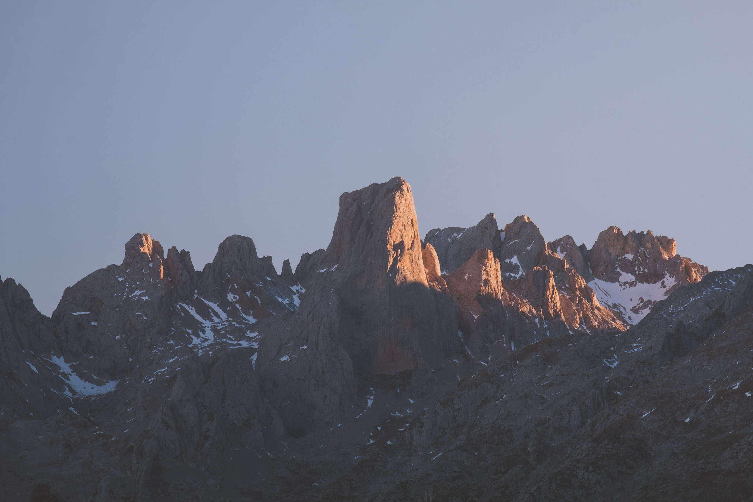 Sunset at Picos de Europa, Asturias, Spain.