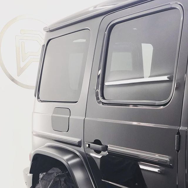 @evhire 's G63 transformation to Full Stealth PPF progressing nicely! Doors up next......Cannot wait to share with you the end result! The G63 has never looked so good!!!! 🦇#PPF #G63
