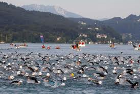 The swim at Ironman Austria