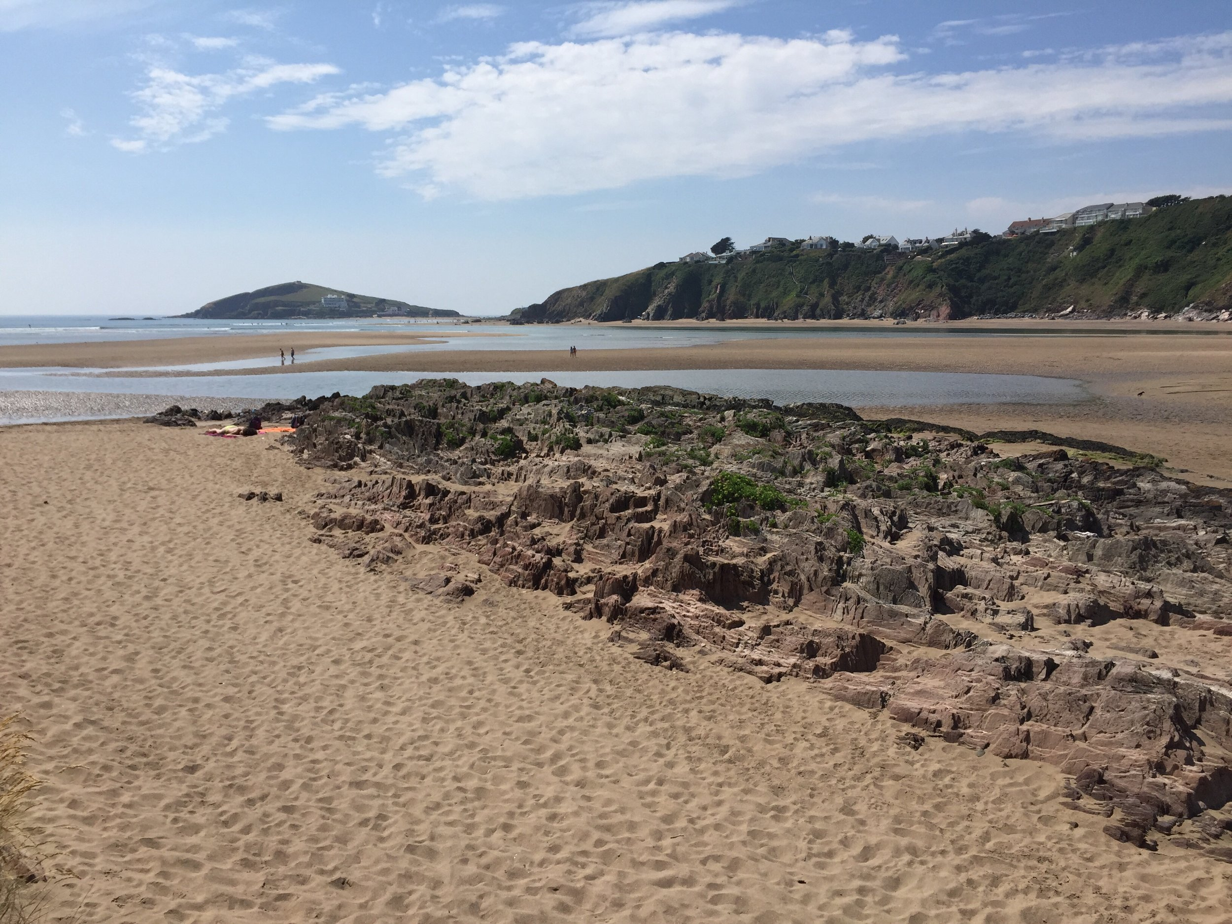 Looking out from Bantham towards Burgh Island