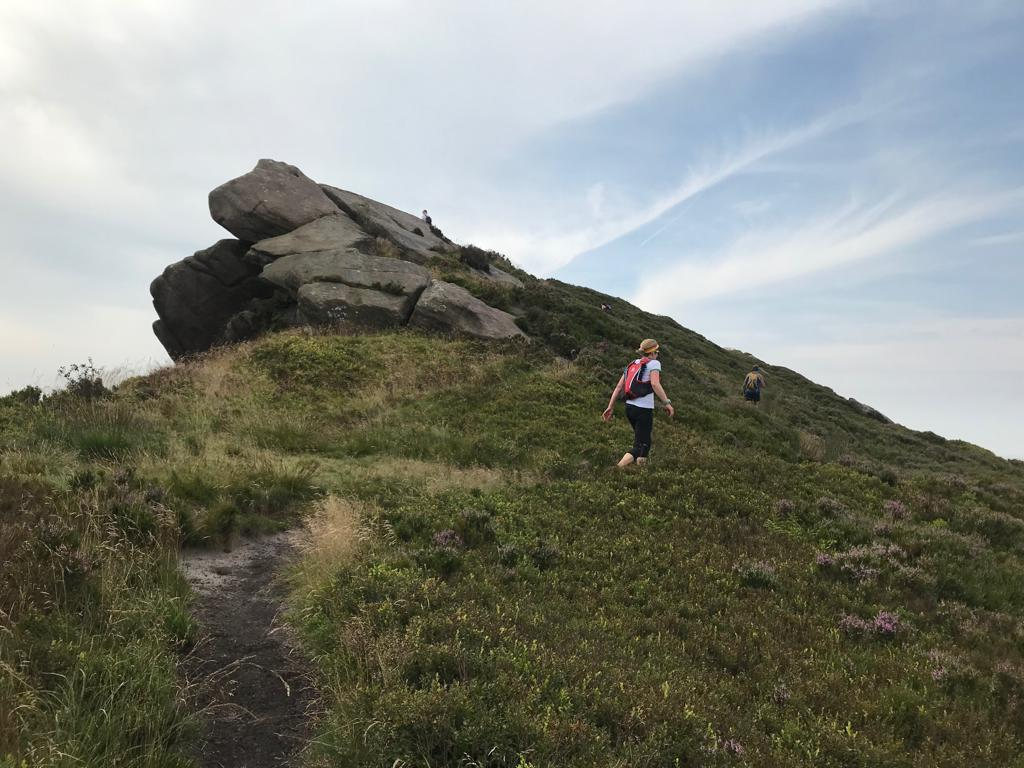 Heading up Ramshaw Rocks during the 2019 Peak Skyline (Photo: Gordon Conway)