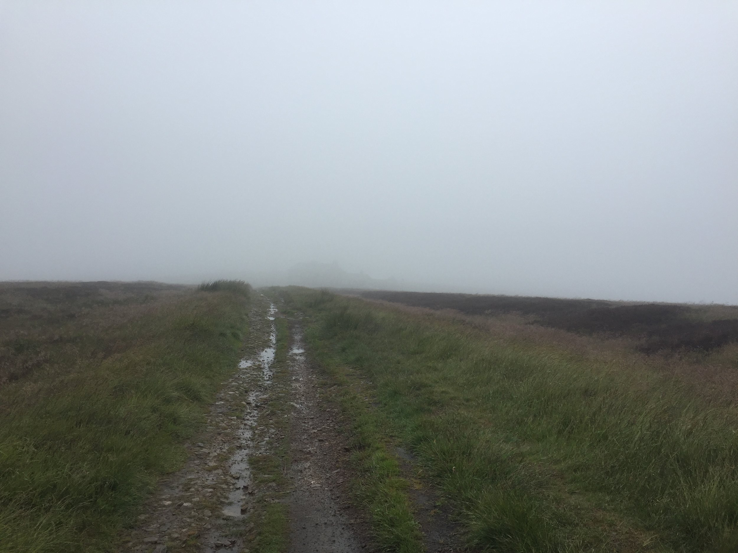 Recce 1 - A bleak looking Peak. Can you even make out the Cat and Fiddle?!