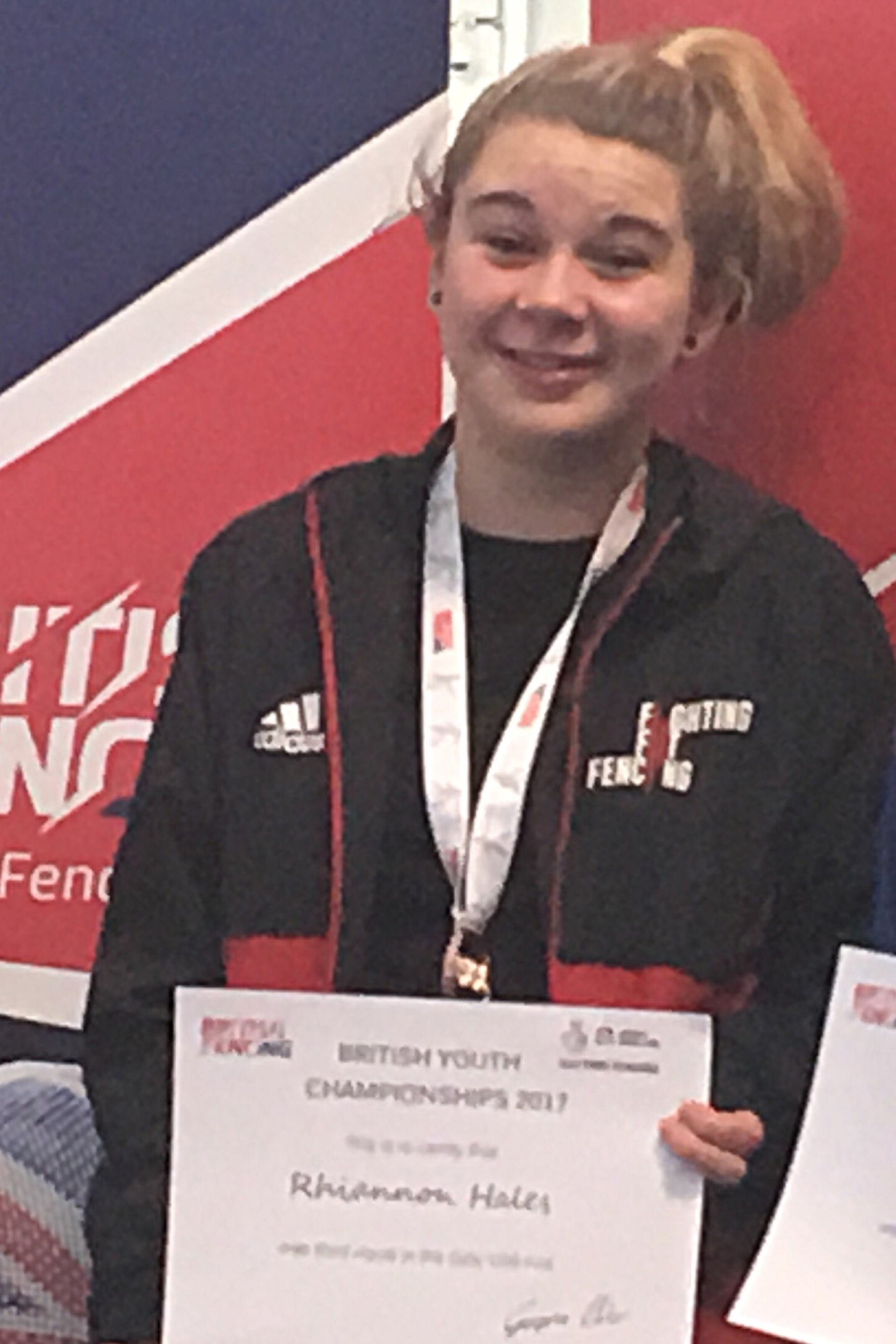 Rhi become National Champion in her age group and has represented ENG at U15 & GBR U17