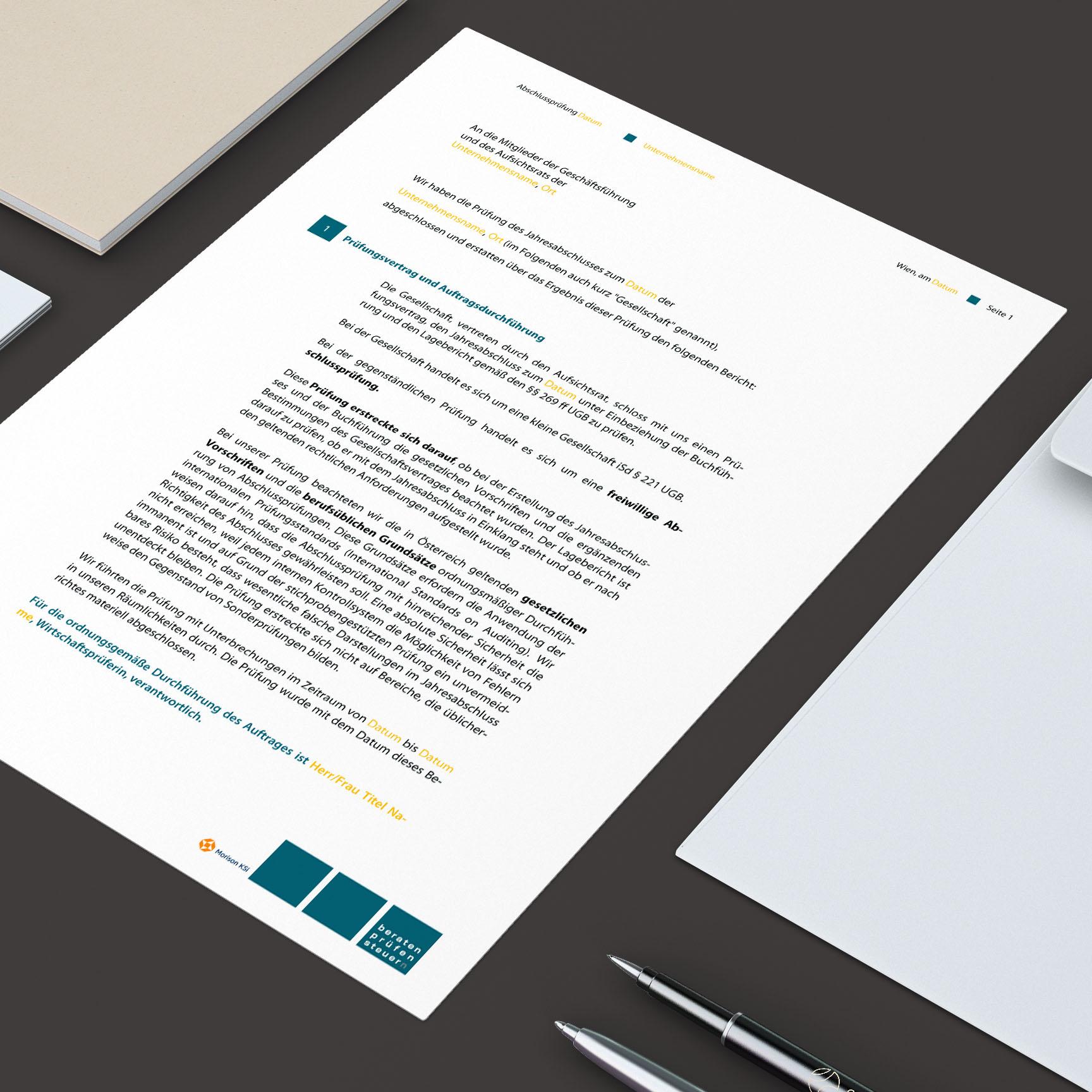 Diverse Word-Vorlagen für HHP Steuerberatung