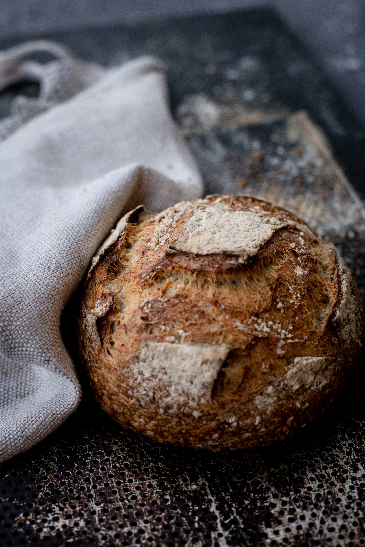 Spelt Sourdough - Water, Malmgård's organic spelt flour, wheat flour, water, salt, sourdough, oats (salt 1,3%)( veg, no industrial yeast )6,-