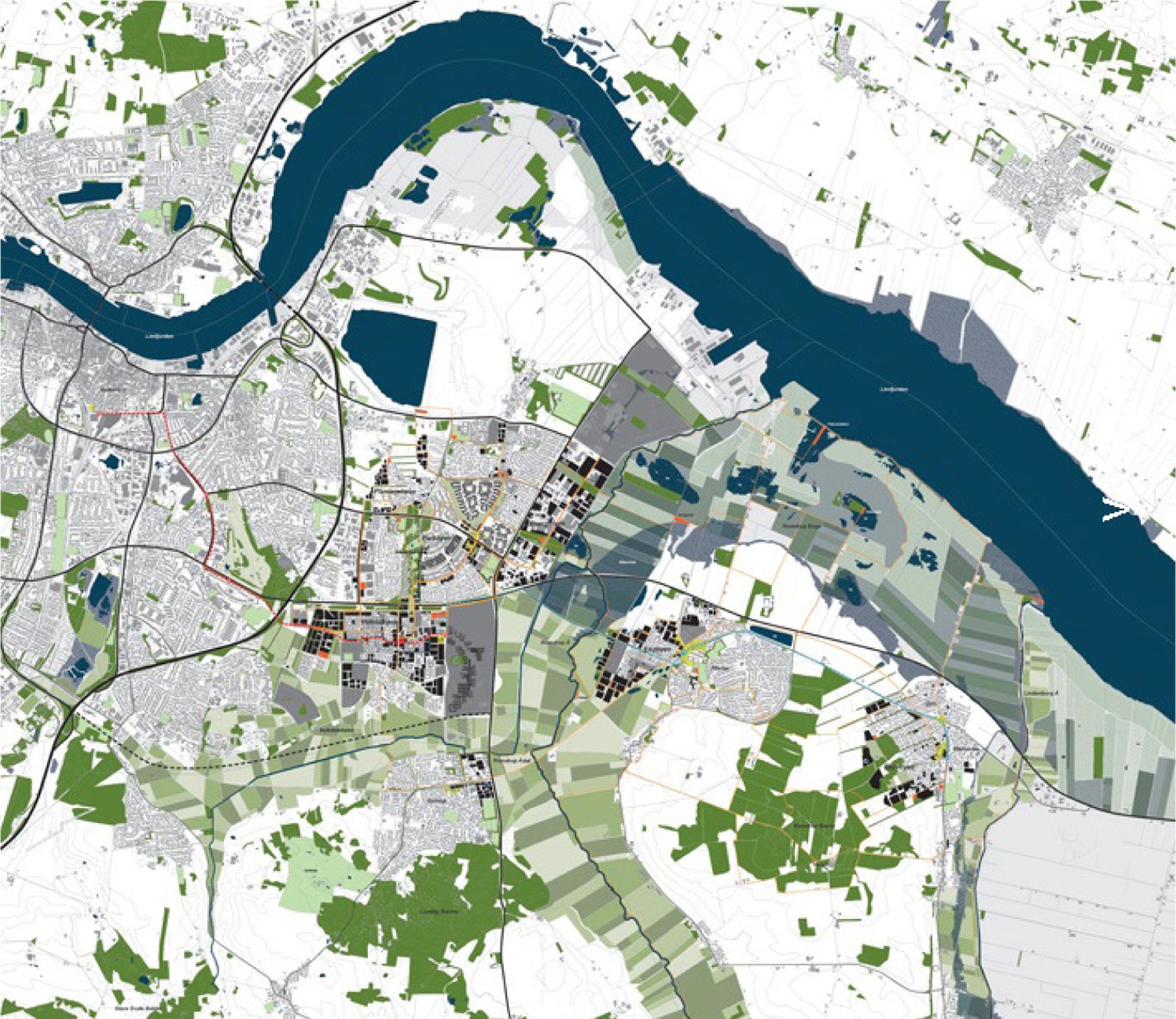 CITY IN BETWEEN i AALBORG    Aalborg Øst udvikles til en bæredygtig forstad, hvor landskabet får en direkte afsmitning på byen og omvendt.