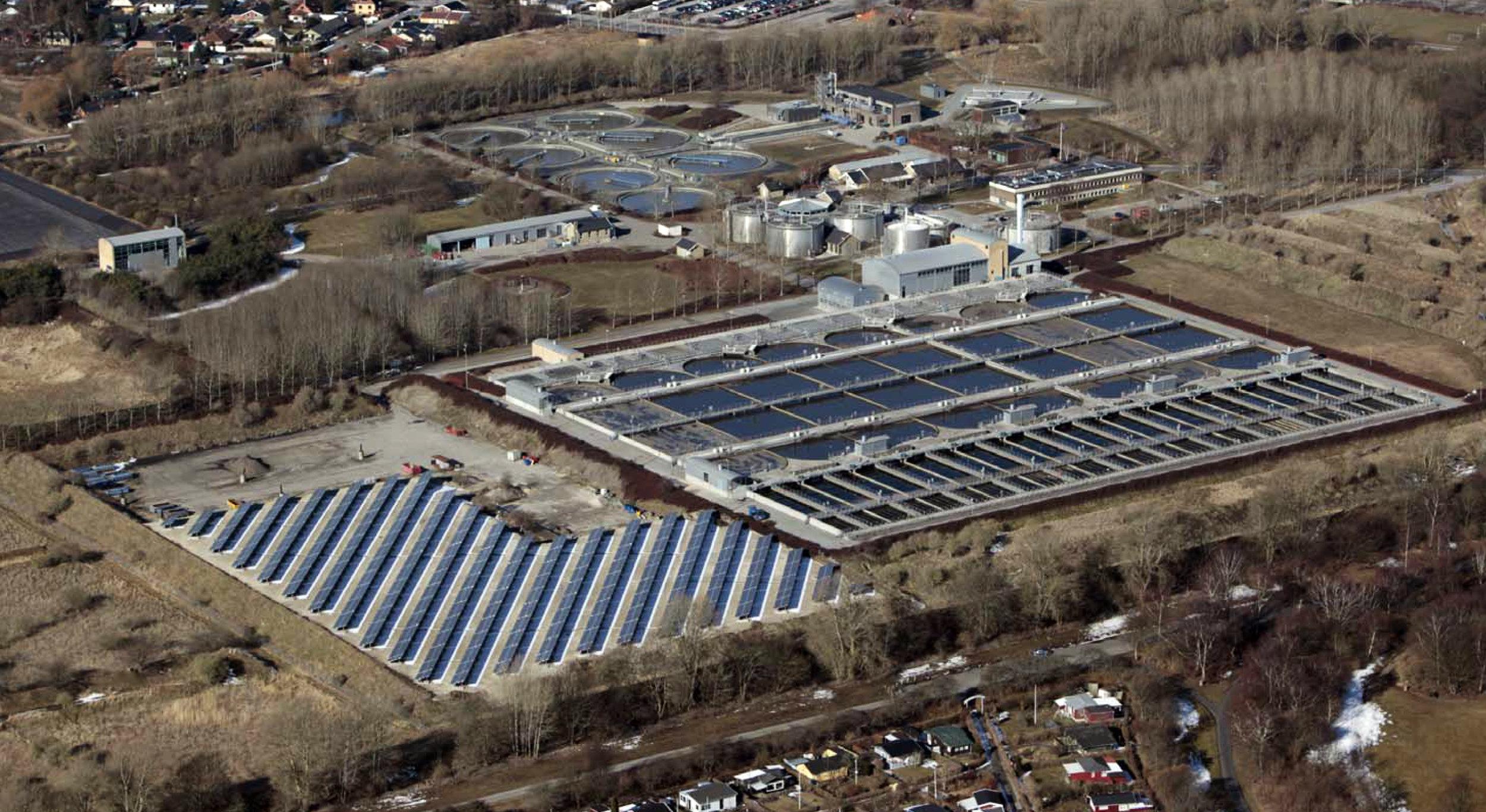 DAMHUSÅEN - Bynært solcelleanlæg i tilknytning til rensningsanlæg