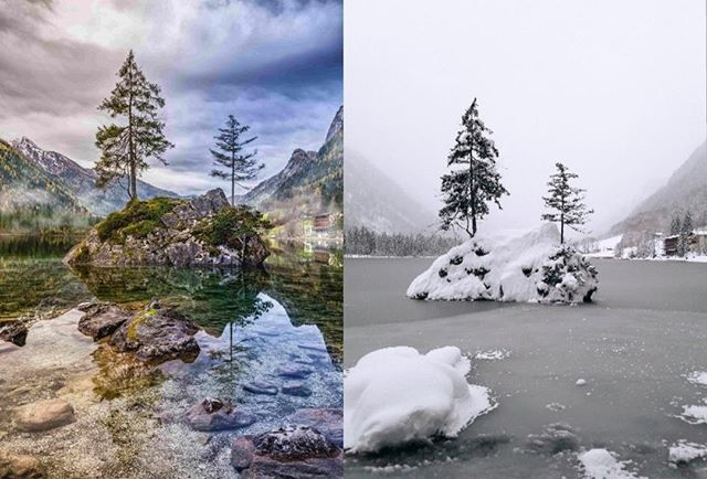 Hintersee Lake really does have separate seasons... Lucky for us were going to be there in the summer! For more info see link in our bio . . . . . . . . . . #summercamp #Ice#summercampsgermany #berchtesgaden #culture #education #friendships #berchtesgadenerland #winter#activities #progress #bushcraft #nature #bavaria #alps #germany #2019  #language #languageskills  #english #welcome #snow #hintersee #hinterseelake #beautiful #mountains #nationalpark #watzmann  #germanalps