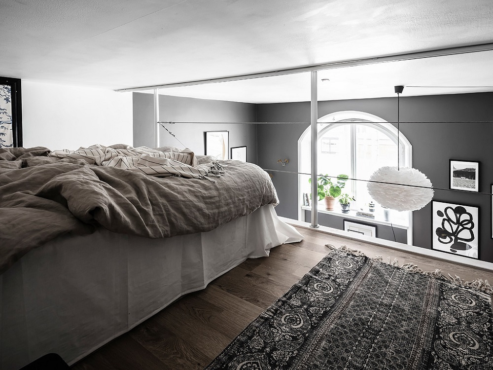 A grey & white Scandinavian loft    | photos by Anders Bergstedt & styling by Nouvel Interior