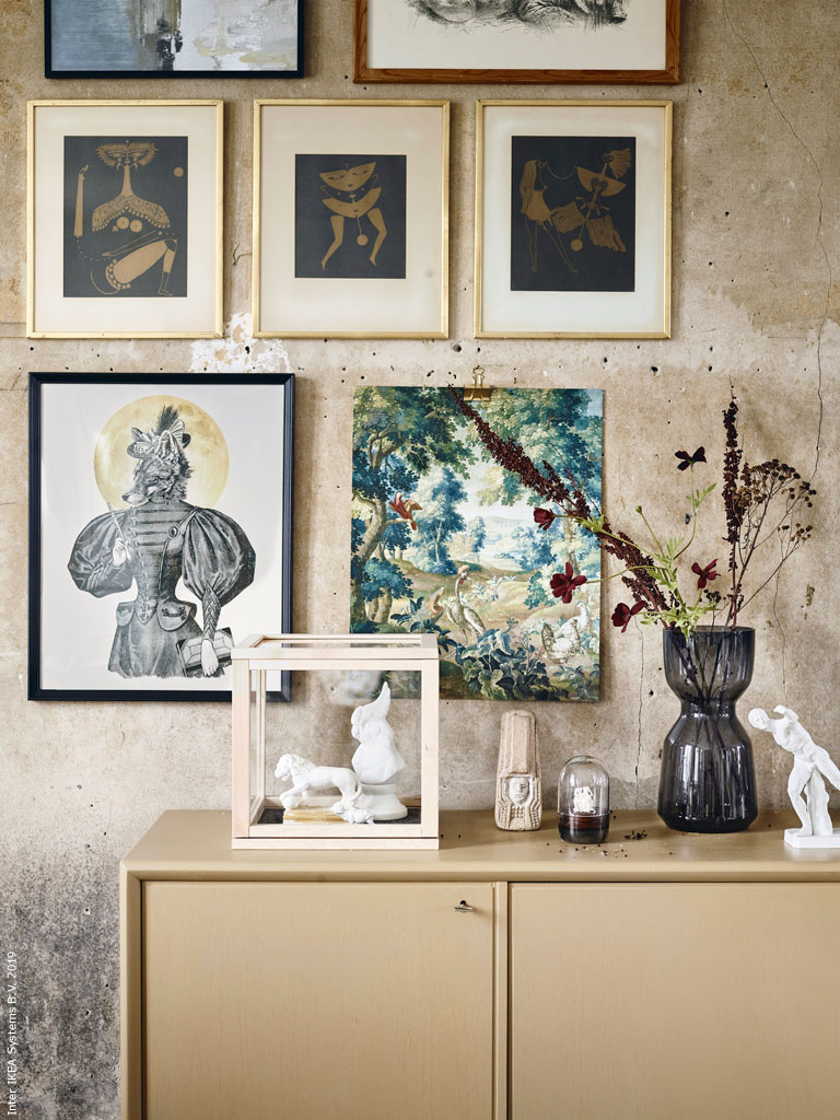 The Nordroom - A Stunning Art-Filled Living Room with Eye-Catching Walls