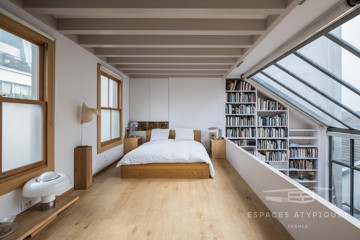 The Nordroom - Spectacular Windows In A Serene Book-Filled Oasis in Paris
