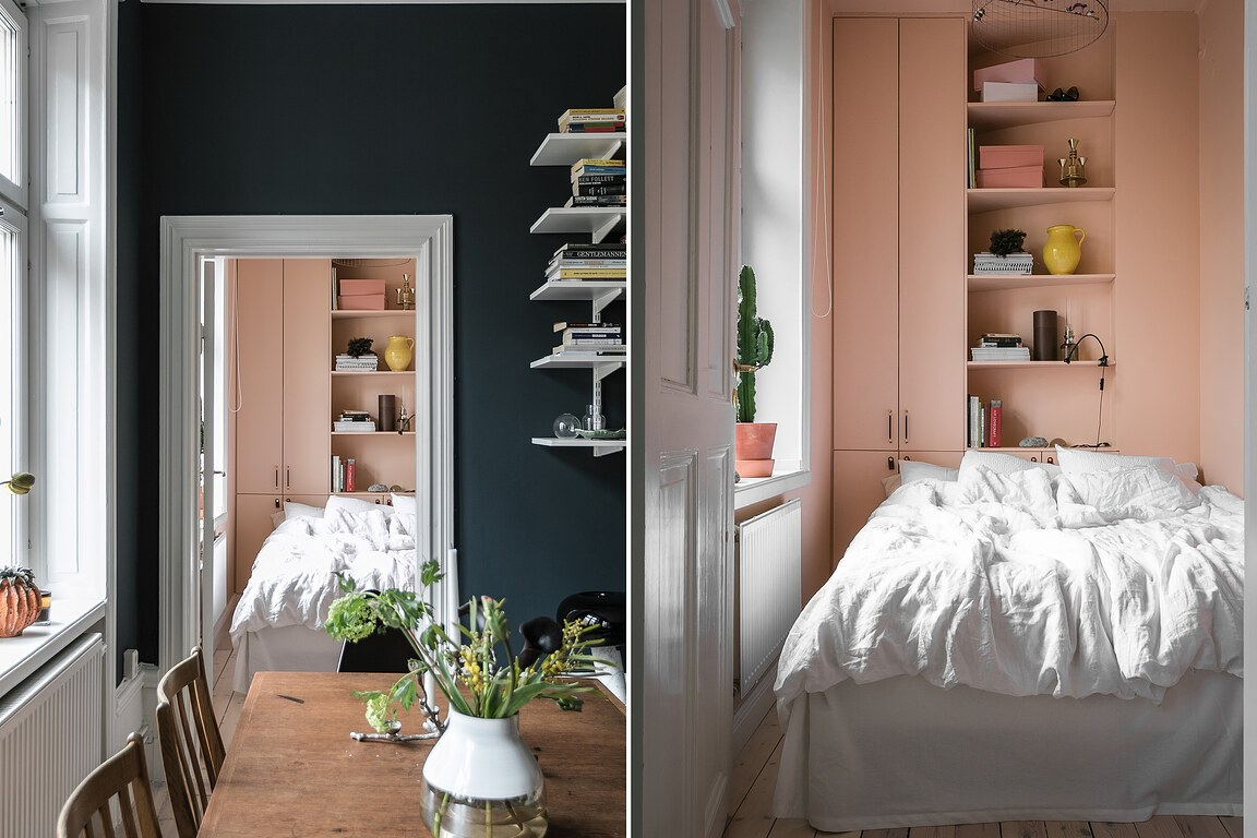 The Nordroom - A Small Blue & Pink Scandinavian Apartment
