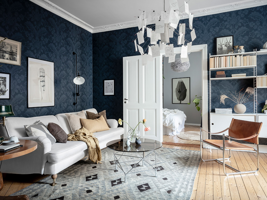 A Beautiful Grey Blue Scandinavian Apartment The Nordroom