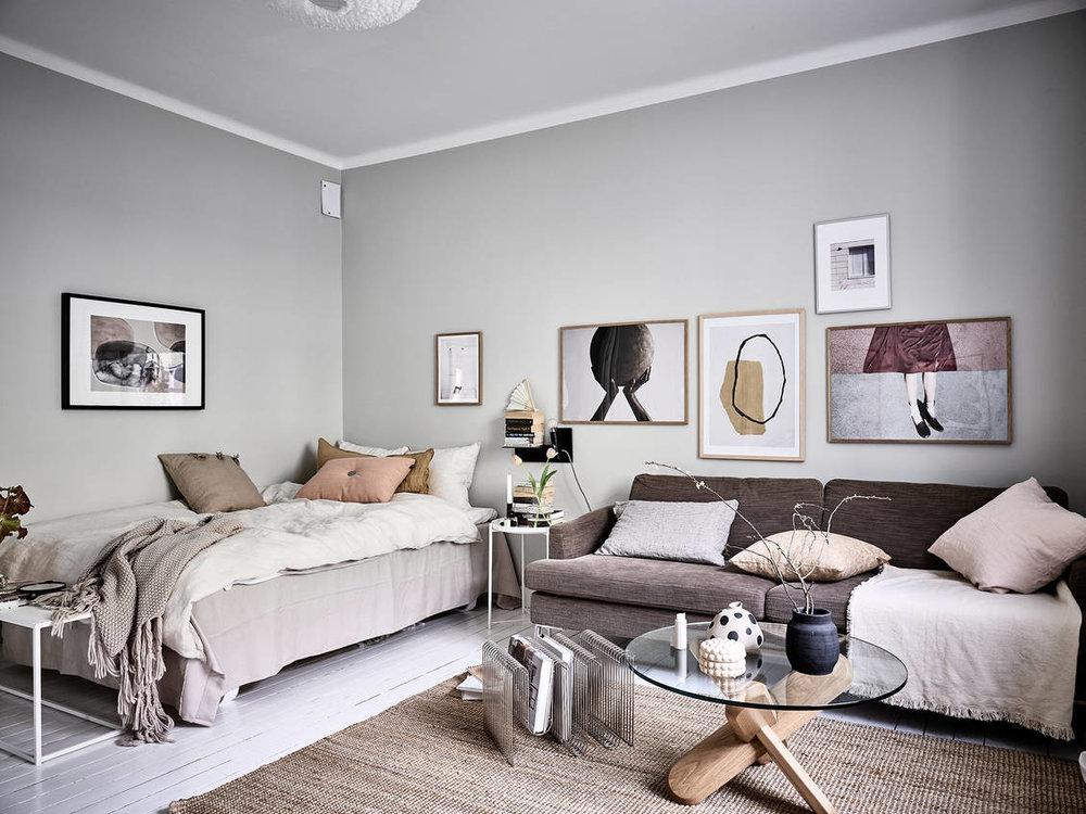 A Stylish Scandinavian Studio Apartment The Nordroom