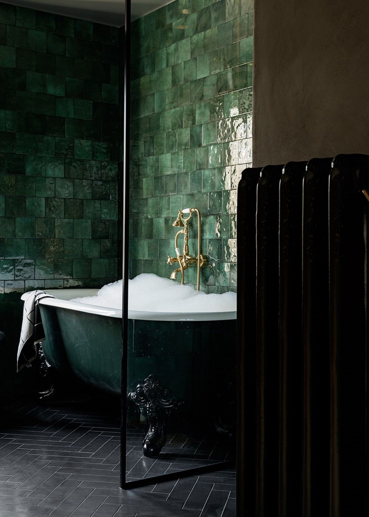 The Nordroom - An Idyllic Swedish Home In The Woods With A Stunning Green Bathroom