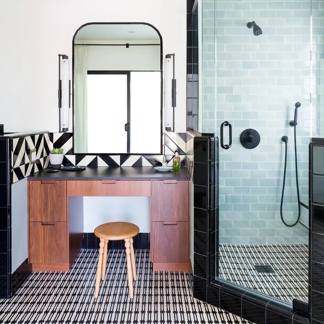 The Nordroom - 25 Inspiring Bathrooms With Geometric Tiles  image: Amy Bartlam