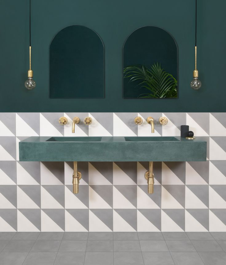 The Nordroom - 25 Inspiring Bathrooms With Geometric Tiles  image: pinterest