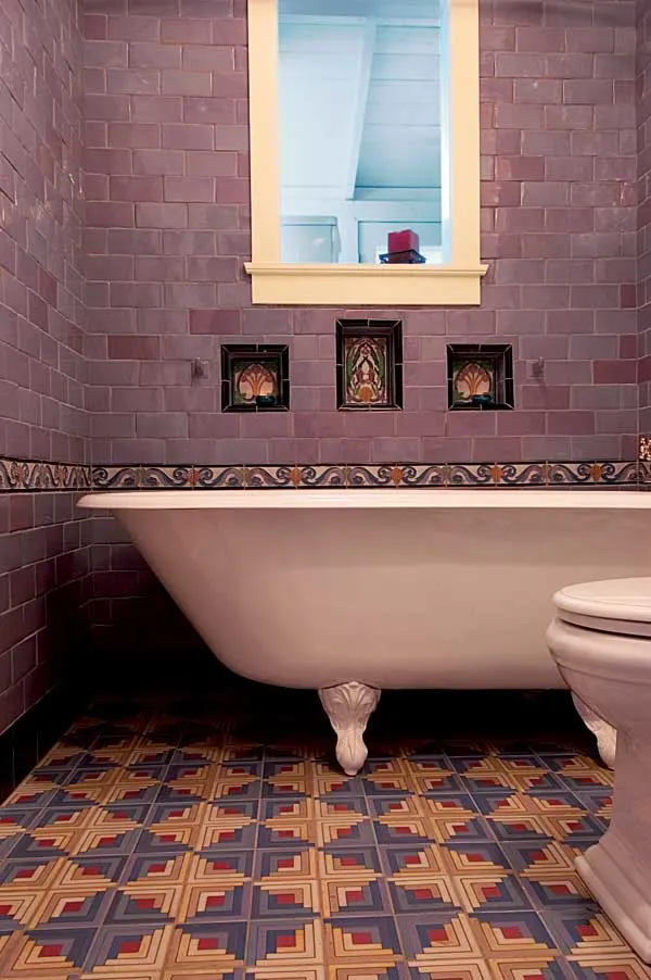 The Nordroom - 25 Inspiring Bathrooms With Geometric Tiles  image: M.E. Tile