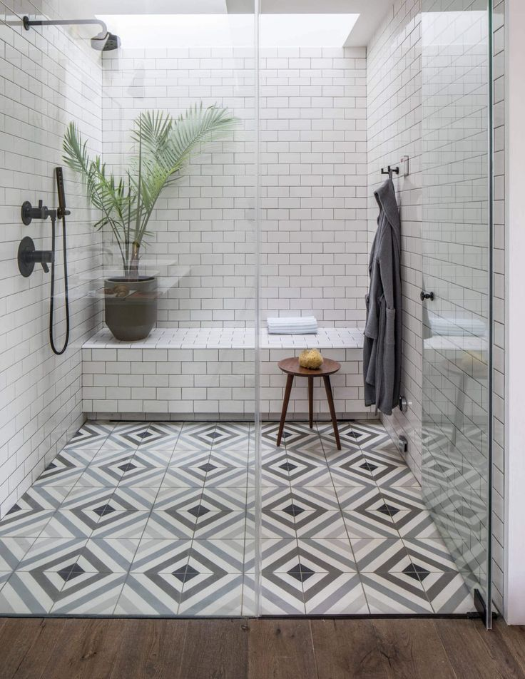The Nordroom - 25 Inspiring Bathrooms With Geometric Tiles  image; Marco Ricca