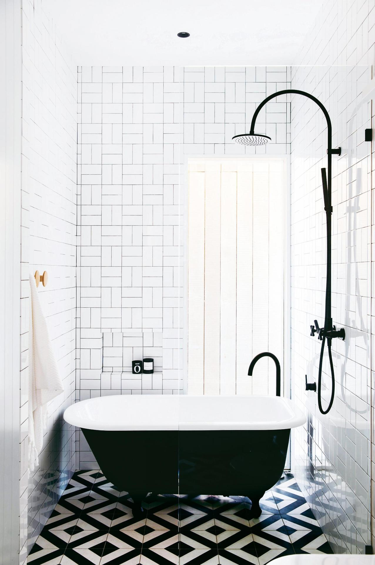The Nordroom - 25 Inspiring Bathrooms With Geometric Tiles  image: Stephanie Powell
