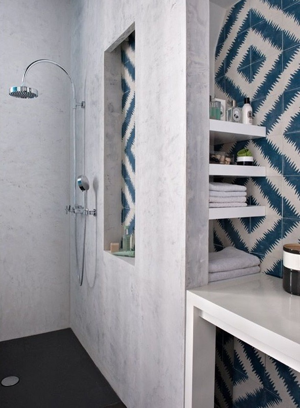 The Nordroom - 25 Inspiring Bathrooms With Geometric Tiles  image: Double G