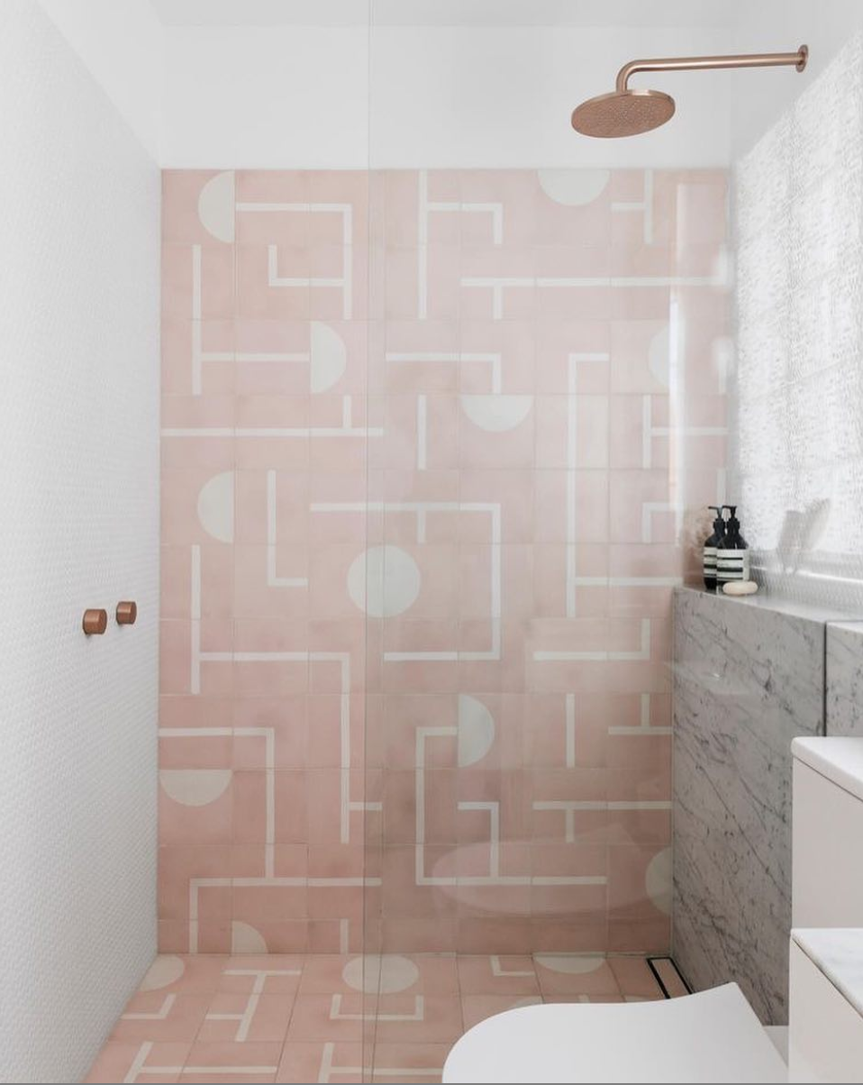 The Nordroom - 25 Inspiring Bathrooms With Geometric Tiles  image: Felix Forest
