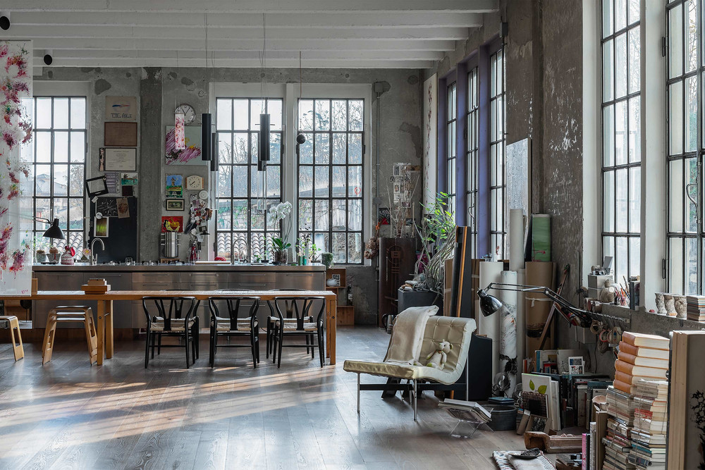 An Industrial Artist Loft in Italy With Jaw Dropping Windows