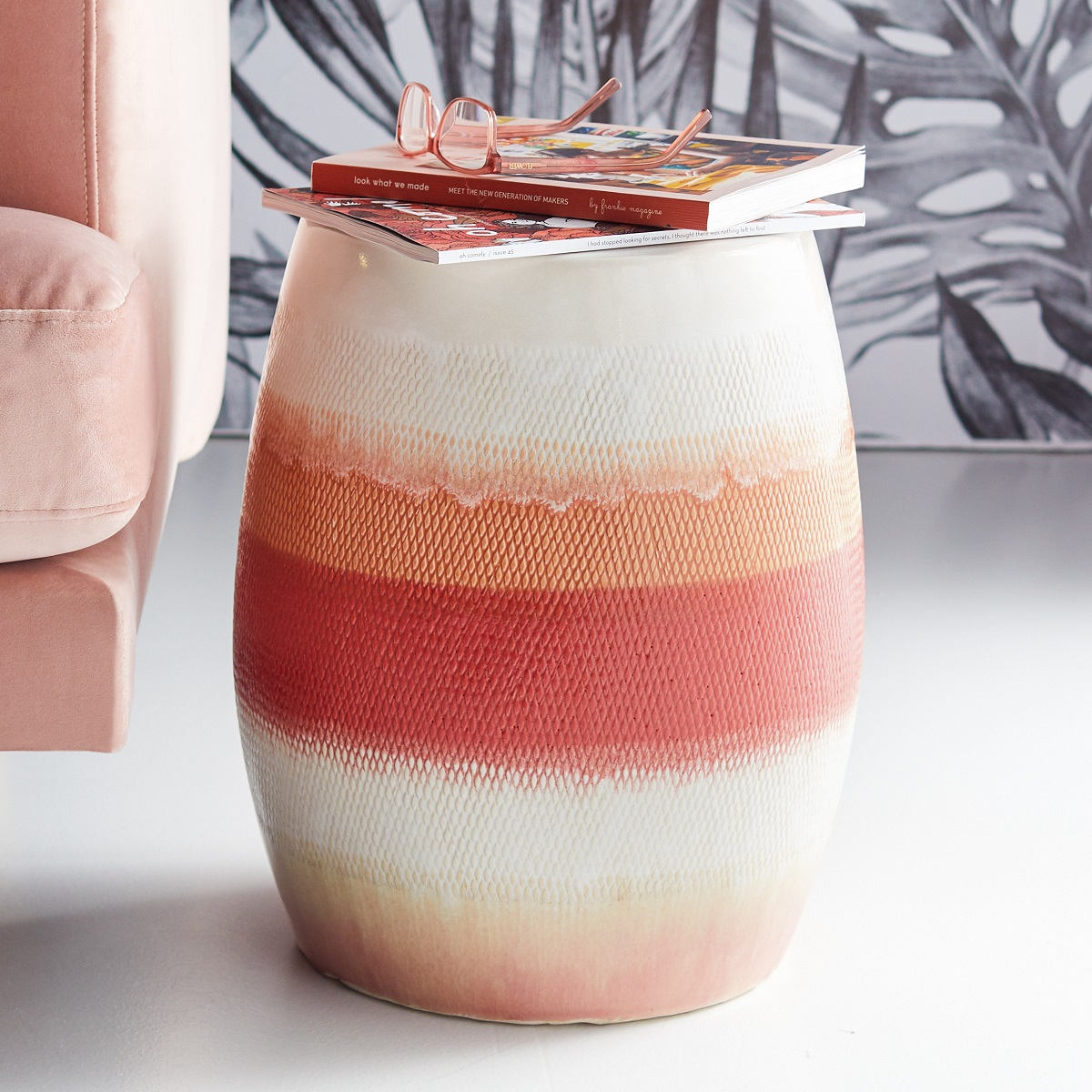 Ceramic Ombre Side Table -