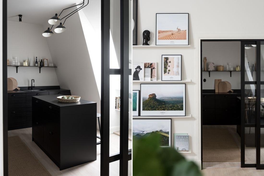 The Nordroom - Monochrome Scandinavian Attic Apartment