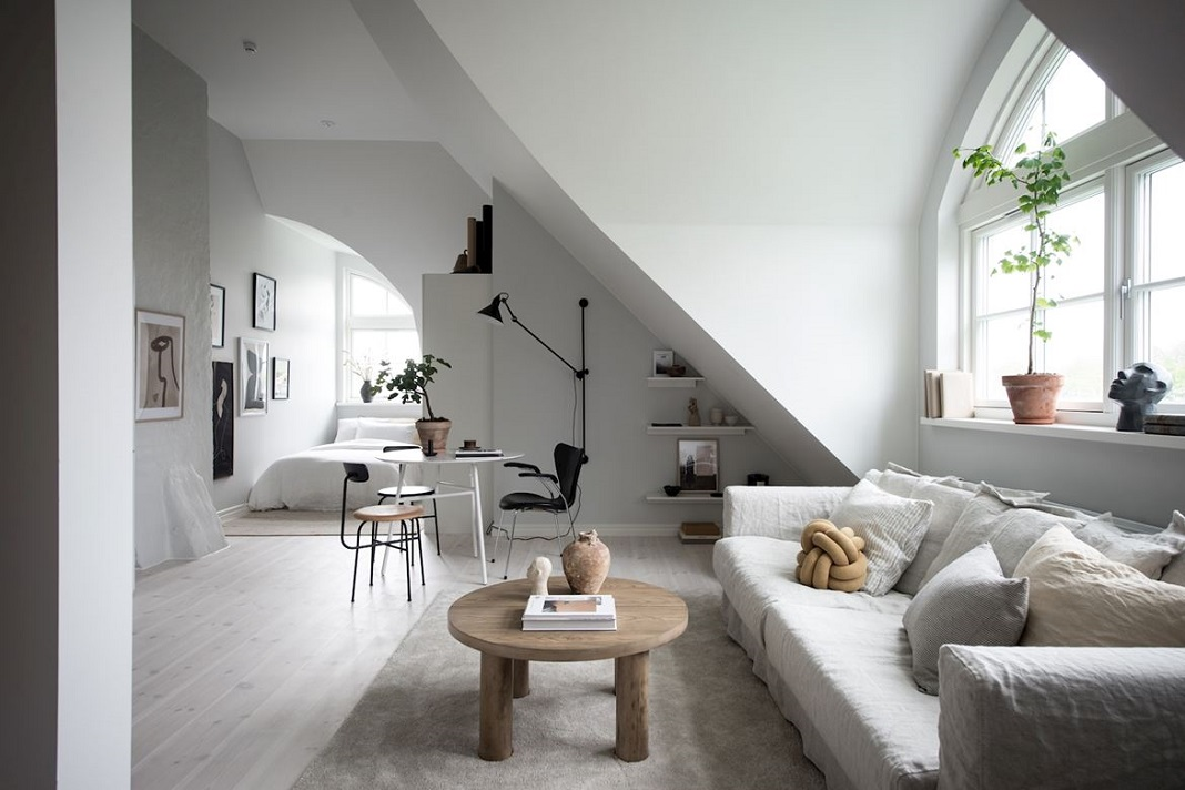 The Nordroom - A Minimalistic Scandinavian Studio Apartment
