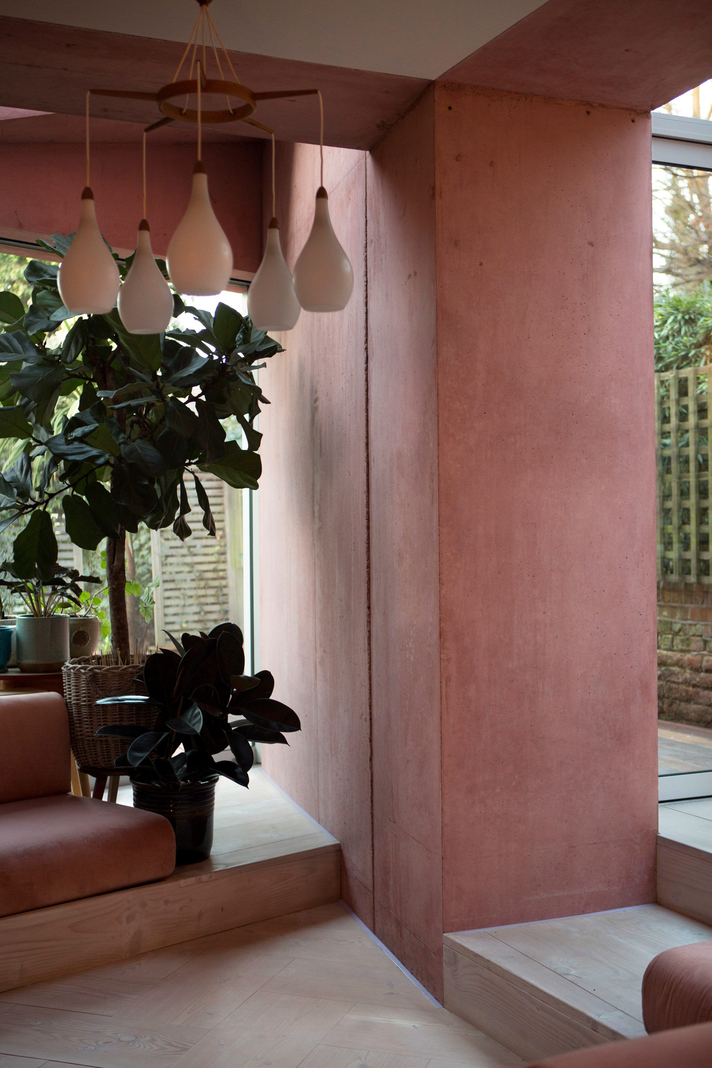 The Nordroom - A Pink Concrete Extension For A Victorian Home in London