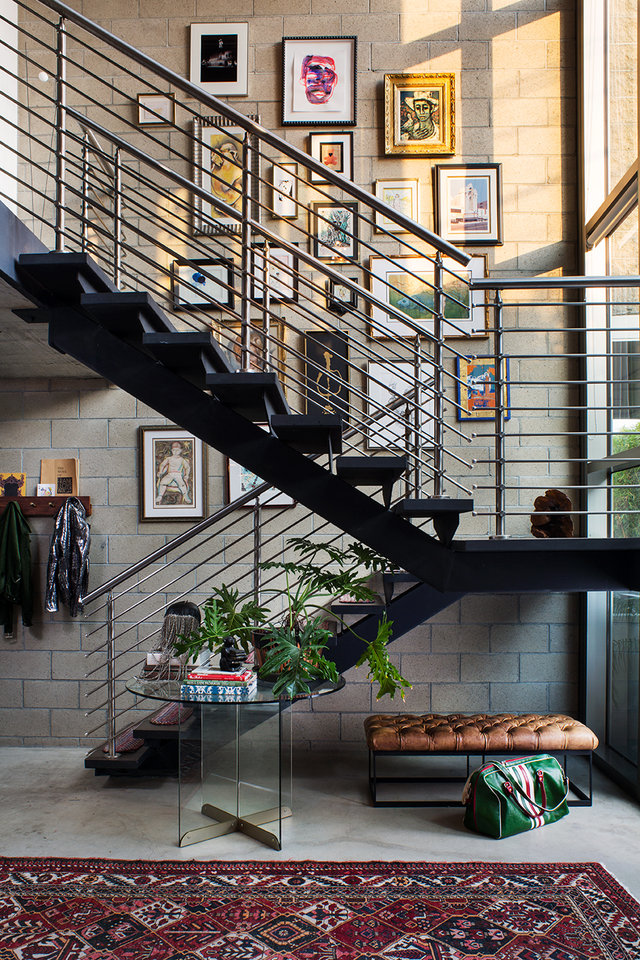 The Nordroom - an industrial loft packed with textiles and art