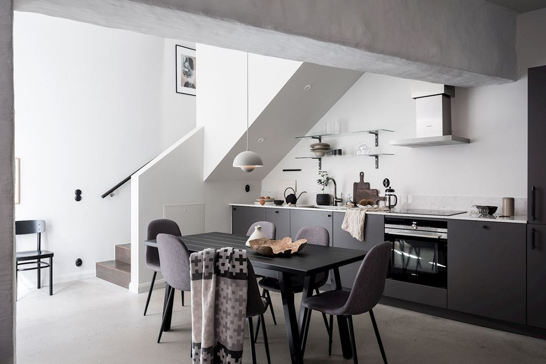The Nordroom - A Scandinavian Home With Exposed Brick Wall